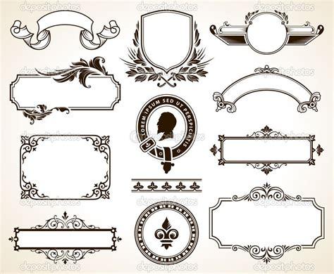 vektornyy nabor kalligraficheskikh elementov dizayna
