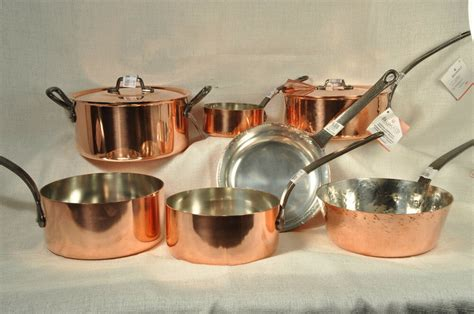 baumalu assorted copper cookware pots  pans alsace france  ebay