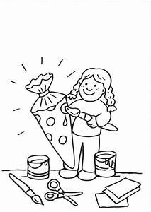 Schultüte Mädchen Basteln : kostenlose malvorlage einschulung schult te basteln zum ~ Lizthompson.info Haus und Dekorationen