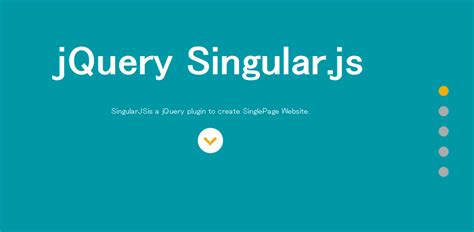 Css3 And Jquery Single Page Scrolling Plugin Singularjs