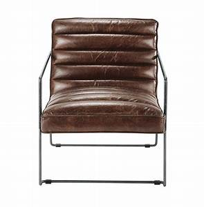 Fauteuil Cuir Maison Du Monde : fauteuil en cuir marron fauteuils en cuir marrons et fauteuils ~ Teatrodelosmanantiales.com Idées de Décoration