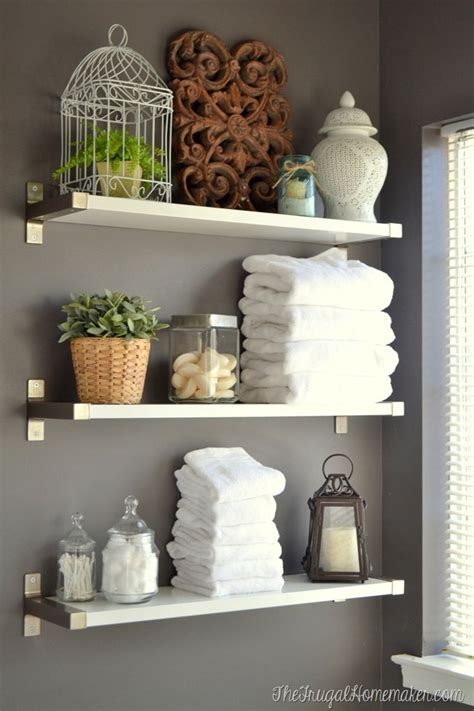 bathroom wall shelves ideas installing ikea ekby shelves in the bathroom of frugal