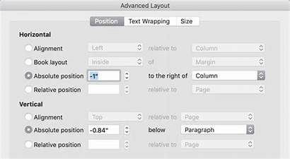 Word Place Microsoft Advanced Layout Pane Want