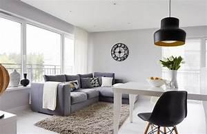 Weiß Graues Sofa : wohnzimmer modern einrichten 52 tolle bilder und ideen ~ A.2002-acura-tl-radio.info Haus und Dekorationen