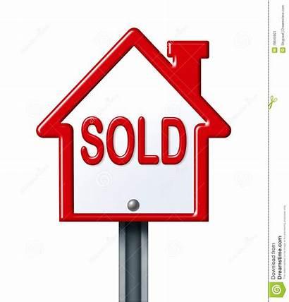 Sold Sign Clipart Estate Clip Symbol Background