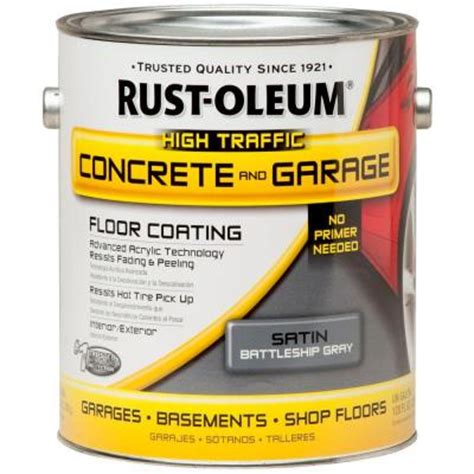Rust Oleum Decorative Concrete Coating Slate by Rust Oleum Epoxyshield 1 Gal Battleship Gray Concrete
