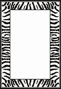 Free Printable Zebra Paper Borders - ClipArt Best