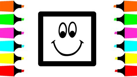 coloring pages happy squares  kids   draw
