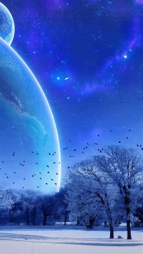 Top Winter Picture by 雪景色と幻想的な星空 Iphonex スマホ壁紙 待受画像ギャラリー