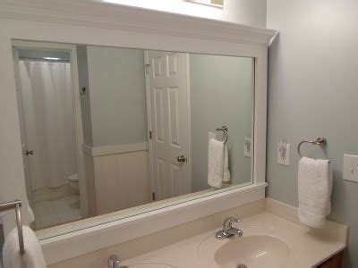 How To Frame Bathroom Mirror With Molding by Cheriesparetime Frame A Mirror With Smart