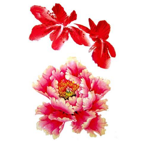 tatouage temporaire  ephemere fleur dhibiscus  de tiare