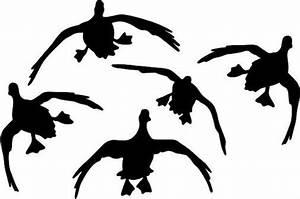 Duck Hunting Waterfowl 5 Flight Truck Vinyl Window Decal