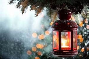 Wallpaper, Lantern, Candles, Branches, Closeup