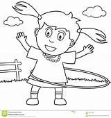 Hula Coloring Hoop Playing Park Pages Dreamstime Getdrawings Sheet Valuable Illustration Getcolorings Printable Cute sketch template