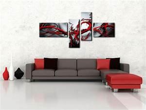 Tableau Salon Moderne : tableau decoratif salon ~ Farleysfitness.com Idées de Décoration