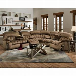 carrington motion brown plush mink 3 piece sectional sofa With large plush sectional sofa