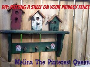 Diy, Putting, A, Shelf, On, Your, Privacy, Fence