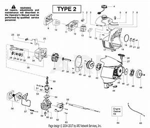 Poulan Sm132 Gas Trimmer Type 2 Parts Diagram For Engine