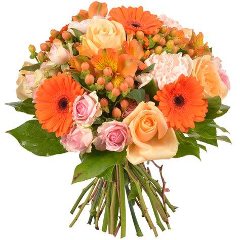 bouquet de fleurs anniversaire photo bouquet orange safari livraison de fleurs 123fleurs