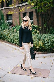 Holiday Party Outfit Black Pants