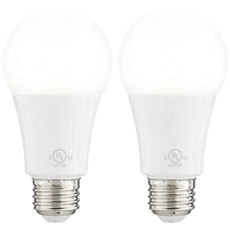 16 watt enclosed fixture medium base led light bulb 2 pack
