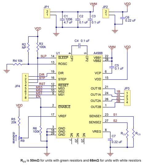 pololu schematic diagram    stepper motor driver carrier  green  black