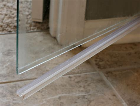 It's Easy To Clean Clean The Glass Shower Door Plastic Strip
