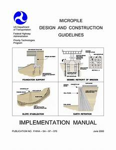 Federal Highway Administration  Fhwa  Micropilie Design