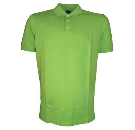poloshirt hugo hugo ferrara green polo shirt polo shirts from