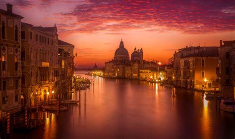 grand canal  venice italy  night hd wallpaper
