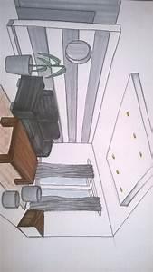 Salon avec canape en cuir noir bois lasurer gris blanc for Tapis chambre bébé avec canape gris en cuir