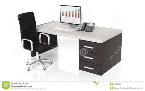 Office Desk Equipment by Office Desk With Equipment Stock Illustration