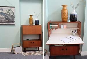 Bureau Secretaire Vintage : secretaire bureau van vintage kast naar fris ~ Teatrodelosmanantiales.com Idées de Décoration