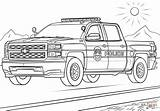 Police Coloring Truck Pages Mounted sketch template