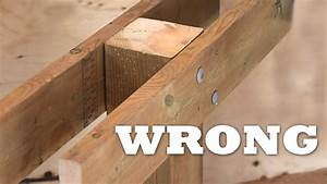 How to Attach a Beam to a Post for a Deck - YouTube