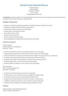 sle regulatory specialist resume resame