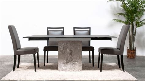 marble glass dining table modern citadel extension dining table grey marble base