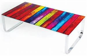 modern multi color glass coffee table rainbow modern With colored glass coffee table