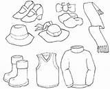 Coloring Winter Clothes Colorear Clothing Ropa Dibujos Prendas Imagenes Vestir Worksheets Verano Ninos Actividades Ausmalbilder Barbie Maestra Revista Infantil Dibujo sketch template