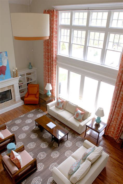 Orange Grey And Turquoise Living Room by Birds Of A Feather To Paint Or Not To Paint