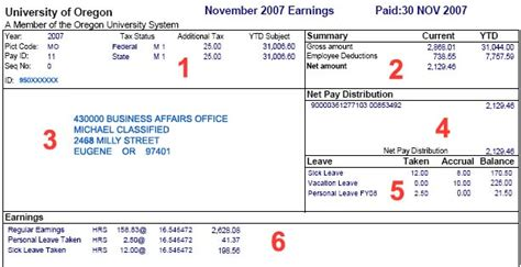earnings statement template leave earning statement template best template collection