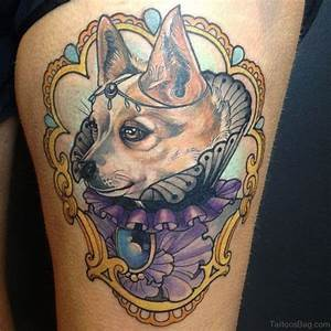 70 Impressive Portrait Tattoos Designs For Thigh