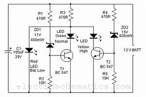 battery monitor circuit With com electronic circuits lm3914 12v battery monitor circuit
