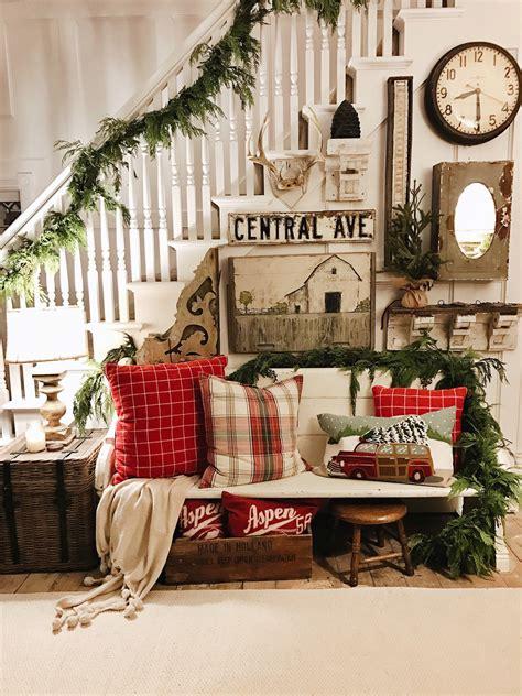 rustic christmas farmhouse entryway liz marie blog