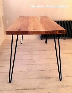 Hairpin Legs Tisch : irish spalted beech dining table with hairpin legs in 2019 ~ Watch28wear.com Haus und Dekorationen