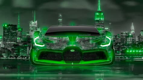 Your child can also operate this car by himself/herself by electric foot pedal. BUGATTI DIVO FRONT SUPER NEON CRYSTAL NEW YORK NIGHT CITY ART CAR 2018   el Tony