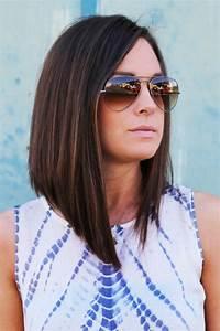 Coupe Cheveux Carré Mi Long : coupe carre plongeant sur cheveux mi long coiffures populaires ~ Melissatoandfro.com Idées de Décoration
