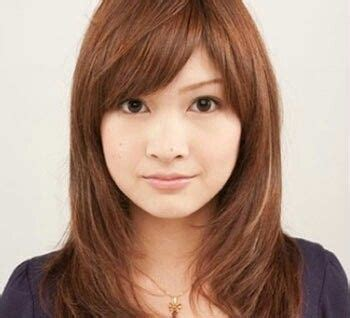 face medium long asian hairstyle  face