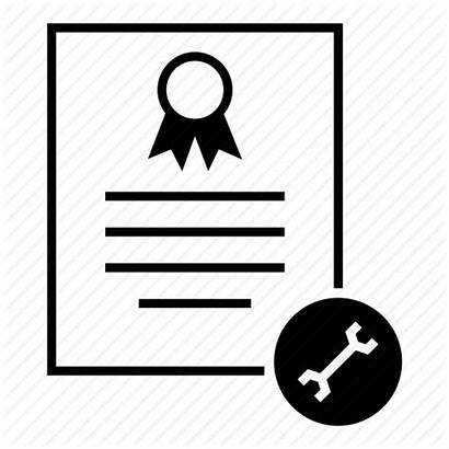 Certificate Icon Merit Settings Standard Document Issue