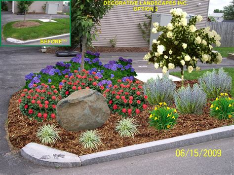 front entry landscape ideas landscaping ideas for driveway entrance condominium front entrance landscape ma garden